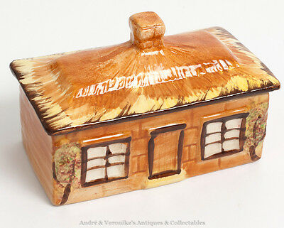 Cottage Ware Butter Dish PRICE BROS Pottery Vintage Hand Painted Country Kitchen