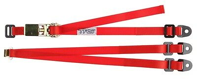 """TRS Spare Wheel Strap RED - 3-Point Fixed Adjustable Ratchet Tie-Down 25mm/1"""""""