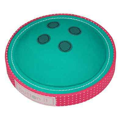 BUTTON IT Cute As A Button Novelty Turquoise Button Pin Cushion.
