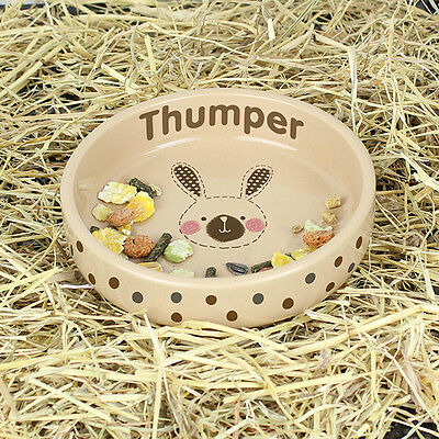 Personalised RABBIT Stitch Design Brown Rabbit Bowl - Add Your Bunnies Name