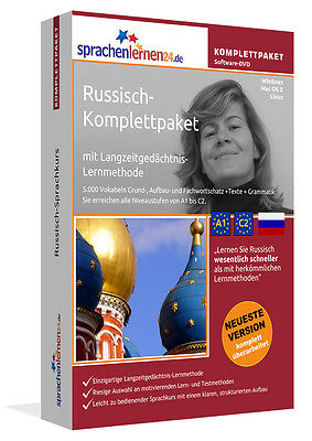 Sprachkurs RUSSISCH KOMPLETTPAKET auf DVD Windows LInux MAC OS X