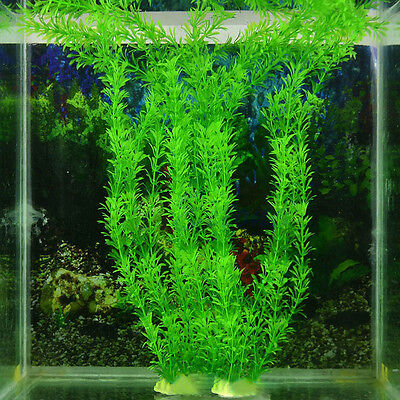 Green Artificial Plastic Grass Plant Ornament  Fish Tank Aquarium Decoration Hot