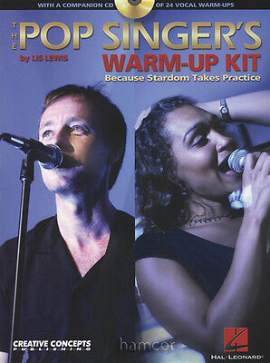 The Pop Singer's Warm Up Kit Vocal Sing Book +CD