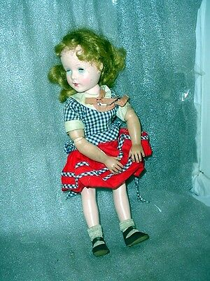 """American Character Sweet Sue Doll 16""""  Dress & Shoes Vintage Used Hard Plastic"""