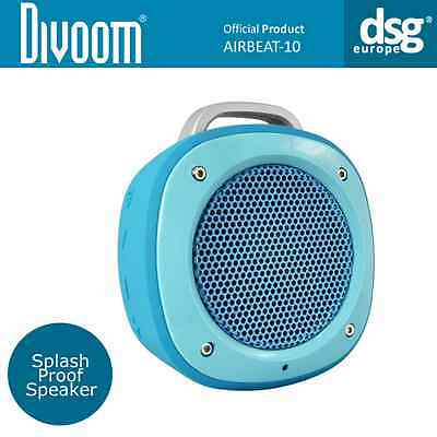 Divoom Airbeat-10 Wireless Portable Bluetooth Speaker with Mic - Blue