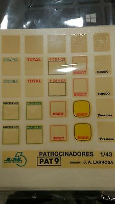"Decal Calca 1/43 Juego De Logos / Logos Set ""placas Plates Rally"" Jal43 (Pat 9)"
