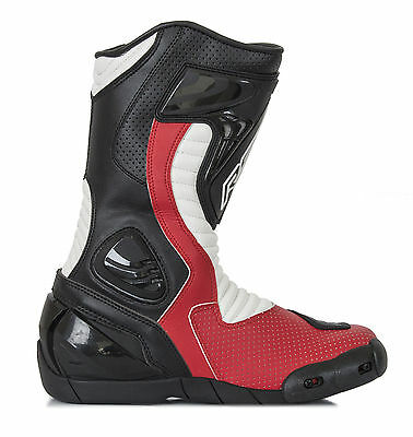 RST R-16 Red Boots 1063 Size EU 44 (UK 10)    **PRICE £109.99**