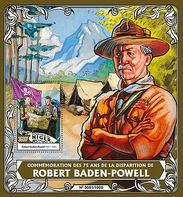 Niger 2016 MNH Robert Baden-Powell 75th Memorial 1v S/S Scouting Scouts Stamps