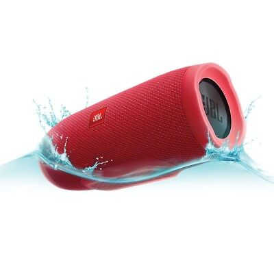 JBL Charge 3 Waterproof Portable Bluetooth Speaker (Red) 20 Hour Playtime!!