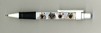 Keeshound Dog Design Retractable Acrylic Ball Pen by paws2print