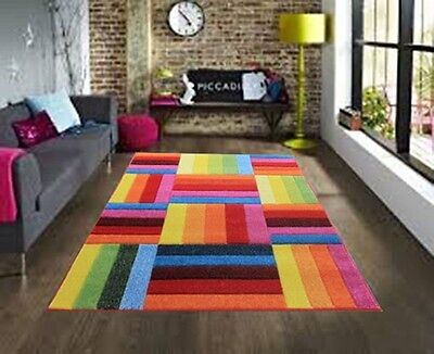 Large Modern Bright Vibrant Colours Soft Thick Cheap Rugs Small Rug Runners Mat