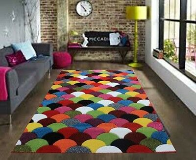 Large Modern Bright Vibrant Colours Soft Thick Cheap Rugs Long Hall Runners Mats