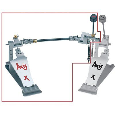 Axis X Longboard Bass Drum Pedal Slave Upgrade with MicroTune - X-L2UPMT