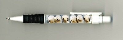 Old English Sheepdog Dog Design Retractable Acrylic Ball Pen by paws2print