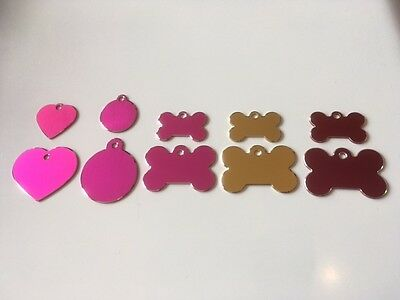 Engraved Cat/Dog/Pet ID NAME tag (Hi-line) BONE/DISC/HEART Variations....