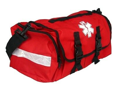 First Responder EMS EMT Paramedic Trauma Bag With Reflectors - Red