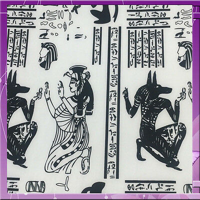 100% Polyester Egyptian Inspired Print 58 Inches Wide Fabric White / Black