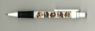Welsh Springer Spaniel Dog Design Retractable Acrylic Ball Pen by paws2print