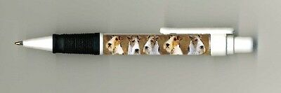Wire Fox Terrier Dog Design Retractable Acrylic Ball Pen by paws2print