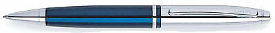 Cross Calais Ballpoint Pen AT0112-3 Blue/Chrome with Gift Box