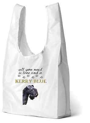 Kerry Blue Terrier Dog Printed Design Eco-Friendly Foldable Shopping Bag