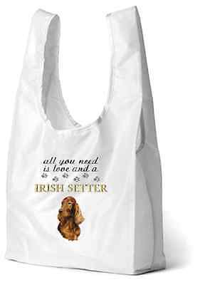 Irish Setter Dog Printed Design Eco-Friendly Foldable Shopping Bag SBIRSETTER-4