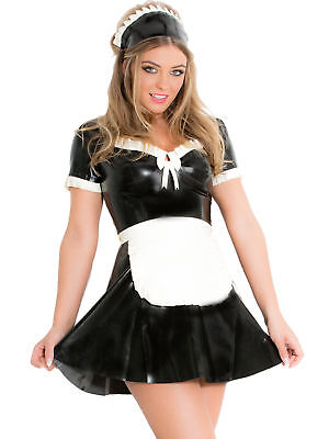 Honour Women's Sexy Maid's Dress in Latex Rubber Kinky Roleplay Costume