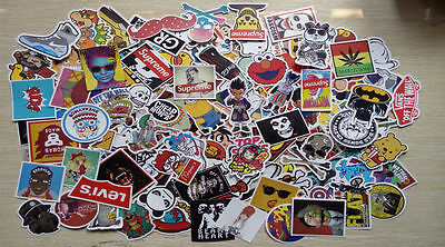 50-150 random vinyl decal stickerbomb laptop waterproof stickers skate 50-150pcs