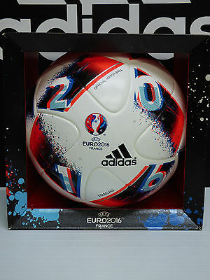 "NEW ADIDAS Euro 2016 ""Fracas"" Official Match Ball - White/Red; size 5  AO4851"