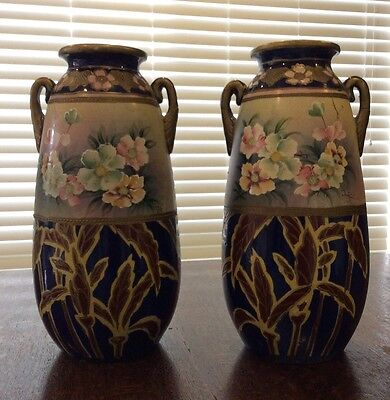 Antique Pair Of Urns / Vases 380mm High (2)