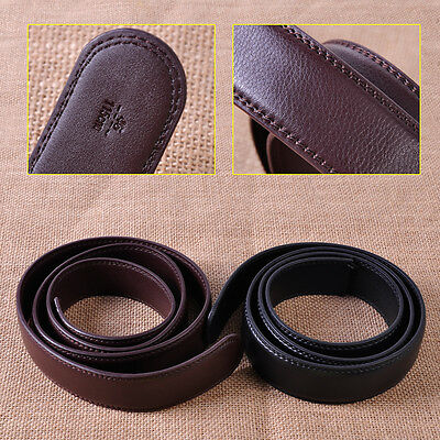 1.1M Men Genuine Leather Belt Automatic Replace Waistband Waist Strap NO Buckle
