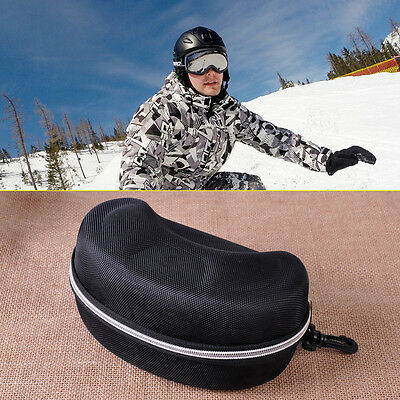Ski Snowboard Sport Bag Zip Hard Case Box Shell Goggle Glasses Protector Holder