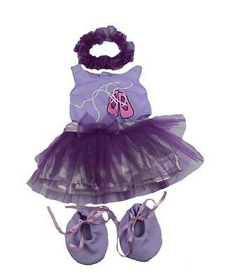 "PURPLE BALLET & SHOES OUTFIT FOR 16""/40cm TEDDY BEARS & BUILD YOUR OWN BEARS"