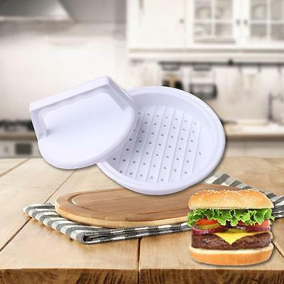 Plastic Burger Press Hamburger,Meat Beef Grill Patty Cooking Maker Kitchen Mold!