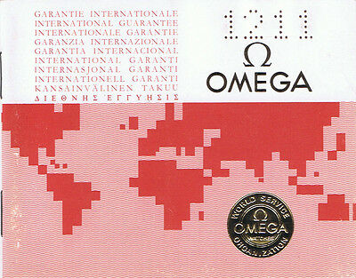 Omega International Guarantee 11.1989 I034