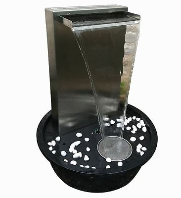 Tidal Self Contained Stainless Steel Water Blade Wall Water Feature- Clearance