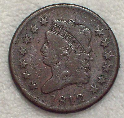 1812 CLASSIC LARGE CENT Fine Detailing S-289 RARE Authentic *PRICED TO SELL*
