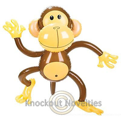 """27"""" Inflatable Monkey Party Decoration Gift Inflate Birthday Jungle Animal"""