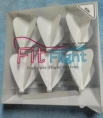 Cosmo Fit Flights Pack Of 6  White Kite Shape