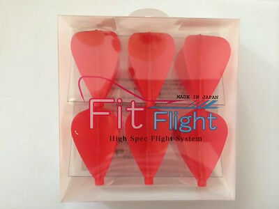 Cosmo Fit Flights Pack Of 6 Red Kite Shape