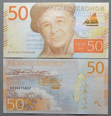 Sweden 50 Kronor - New *2015 Issue -  Unc