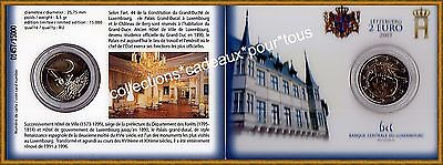 LUXEMBOURG 2 Euro commémorative 2007 - Palais Grand Ducal - COINCARD