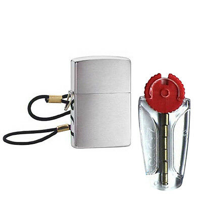LossProof Zippo Lighter with Loop and Lanyard 275 - FREE FLINTS & FREE P&P!