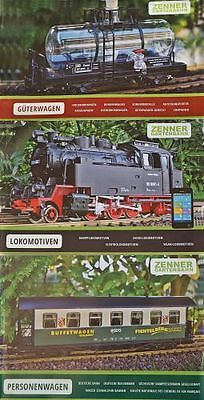 Zenner 3 Catalogues with Locomotives and Car G Scale Garden railway Tray