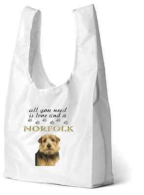 Norfolk Norwich Terrier Dog Printed Design Eco-Friendly Foldable Shop Bag SNORF1