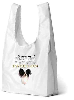 Papillon Dog Printed Design Eco-Friendly Foldable Shopping Bag SBPAP-2