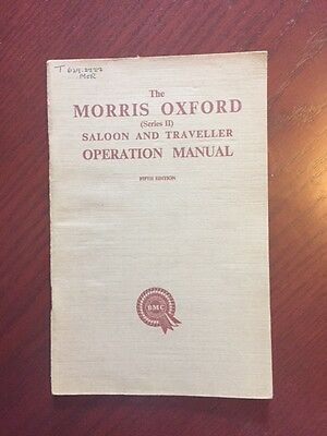 MORRIS OXFORD SERIES 11 HANDBOOK Published 1956