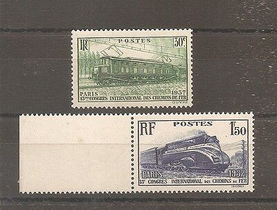 Timbre France Frankreich N°339/340 Neuf** Mnh