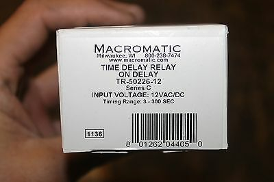 New Macromatic Tr-50226-12 Time Delay Relay