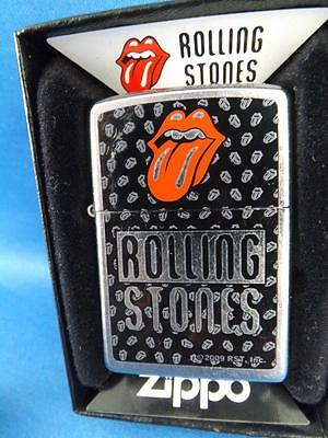 Rolling Stones Tounge Discontinued 2009 Collector Zippo Lighter New Gift Box